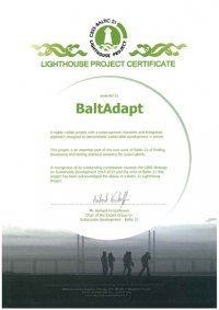 CBSS Baltic 21 Lighthouse Project Certificate
